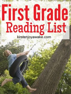 First Grade Reading List.  Great for #Summer #Reading.  Print & Go.