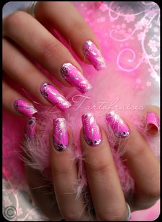 barbie nails by ~Tartofraises on deviantART