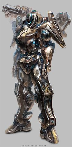 Character Design ( game project ) by Yu Cheng Hong, via Behance/Power Armor Avatar Characters, Sci Fi Characters, Mythological Characters, Robot Concept Art, Armor Concept, Game Character Design, Character Concept, 3d Character, Robot Design