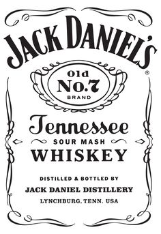 Jack Daniels Tennessee Whiskey Sour Mash Sticker By Fryderyk