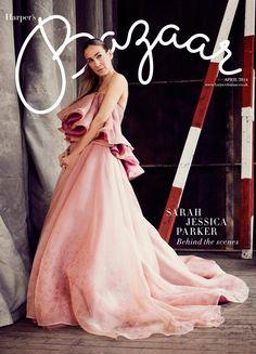 Sarah Jessica Parker. UK Harper's Bazaar April 2014 cover.