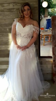Plus size wedding gown with a sheer corset , sparkly tulle skirt and off shoulde. Plus size wedding gown with a sheer corset , sparkly tulle skirt and off shoulde. Plus size wedding gown with a sheer . Wedding Gowns Online, Plus Size Wedding Gowns, Elegant Wedding Gowns, Plus Size Gowns, Sexy Wedding Dresses, Bridal Dresses, Bridesmaid Dresses, Tulle Wedding, Gown Wedding