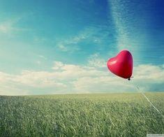 alone heart flying Wallpaper