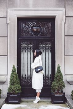 Cozy/dressy white outfit