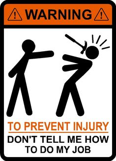 Amazon.com : Warning To Prevent Injury Do Not Tell Me How To Do My Job, Hammer, vinyl, decal, car, window, toolbox, sticker : Everything Else