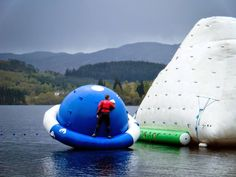 Loch Ard Waterpark, Loch Ard, Scotland. The Scottish solution to Total Wipeout