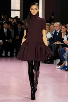 Christian Dior fall-winter 2015-2016 #PFW #fashion #fashionwomancom #look #dresses