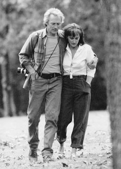 """thestreep: """"Clint Eastwood and Meryl Streep in a deleted scene from The Bridges of Madison County, c.1995 """""""