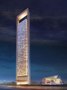 The world's tallest new buildings of 2015: ADNOC Headquarters in Abu Dhabi, United Arab Emirates — 1,122 feet