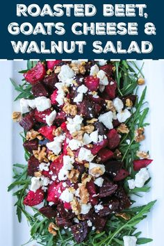 Salads You'll Actually Want To Eat Roasted Beetroot, Goat Cheese, and Walnut Salad. Winter salad recipes that are delicious for Christmas dinner!Roasted Beetroot, Goat Cheese, and Walnut Salad. Winter salad recipes that are delicious for Christmas dinner! Christmas Party Food, Xmas Food, Christmas Lunch Ideas, Christmas Side, Christmas Dinner Menu, Christmas Ham, Christmas Cooking, Winter Christmas, Christmas Decor