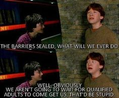 Exactly! Eventually Mr. and Mrs. Weasley would have to come back out.
