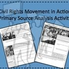 This 2-page handout provides an assortment of quotes and images for students to analyze with guiding questions for a better understanding of the Civil Rights Movement in Action. Includes a wrap-up question in which students utilize all of the information, as well as prior content knowledge for completion.  Answers will vary, so no key provided!  Great class or homework assignment! Also available as part of a bundled set.