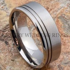 Mens Sterling And Copper Wedding Band By Austin Moore