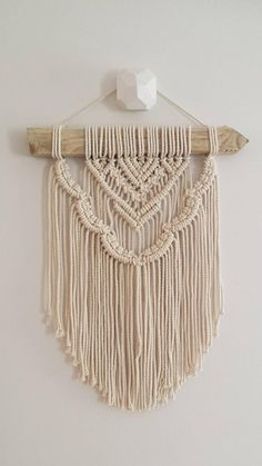 This is one of a range of wall hanging which I have designed for those who would love to purchase a macramé wall hanging but dont necessarily want to invest in a larger piece of art. - Esther is simple modern and geometric details surrounded by soft, round, scalloped edges as a