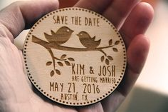 Wooden Save the Date Magnets, Save the Date Magnets, Save the Dates, Wood Magnets, Wooden Save the dates, Wood save the date by esprint09 on Etsy (null)