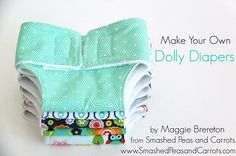 Free pattern: Dolly diapers, because even dolly needs a diaper change!