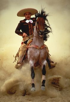Charro, not mariachi. Mexican Rodeo, Mexican Art, Mexican Style, We Are The World, People Of The World, Mexican Heritage, Le Far West, Cowboy And Cowgirl, World Cultures