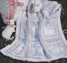 Easter Bunny Baby Afghan Crochet Patterns