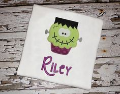 Frankenstein Cupcake Shirt with by KnuckleheadNeedlewrk on Etsy, $25.00