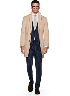 Suitsupply Outerwear: Step up your outerwear game with Suitsupply's sartorial excellence: tapered field jackets, wool peacoats and dapper duffle jackets. Field Jacket, Suit Jacket, Polo Coat, Suit Supply, Baby Camel, Men Formal, Men's Wardrobe, Camel Coat, Grey Pants