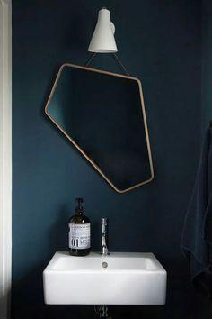 The blue. // Le miroir asymétrique Ego Mirror par Design By Us - FrenchyFancy Home Design, Decor Interior Design, Interior Decorating, Design Ideas, Diy Interior, Studio Design, Bathroom Inspiration, Interior Inspiration, Interior Architecture