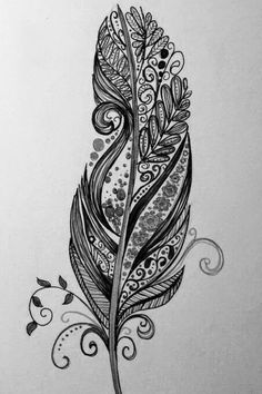Uploaded by natalie. Find images and videos about black, white and art on We Heart It - the app to get lost in what you love. Tribal Feather Tattoos, Henna Feather, Mandala Feather, Feather Art, Feather Design, Feather Vector, Feather Drawing, Mandala Drawing, Mandala Tattoo