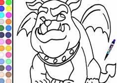 Colorear Monster High.com - Juego: Colorear Rockseena - Jugar Gratis Online