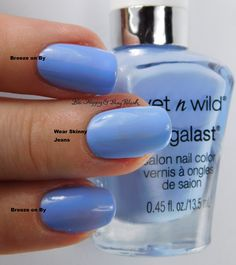 Wet N Wild Megalast Breeze on By compared to Wear Skinny Jeans | Be Happy And Buy Polish http://behappyandbuypolish.com/2016/03/05/wet-n-wild-spring-into-the-wild-nail-polish-swatches-review-plus-comparison/