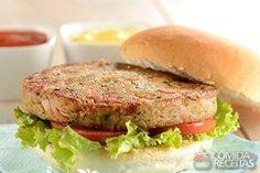 Receita de Hambúrguer de atum especial em receitas de peixes, veja essa e outras receitas aqui!