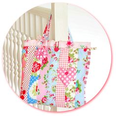 Pretty Patchwork Project Bag - PDF Pattern | PatternPile.com