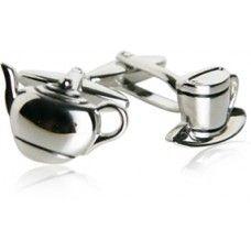 Teapot Tea Time Tea Party Cufflinks