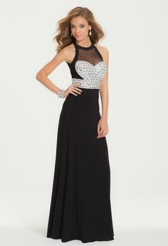 Cluster Beaded Bodice Dress with Open Back from Camille La Vie and Group USA
