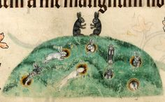 Watership Down, Luttrell Psalter, England ca. 1325-1340. British Library, Add 42130, fol. 176v