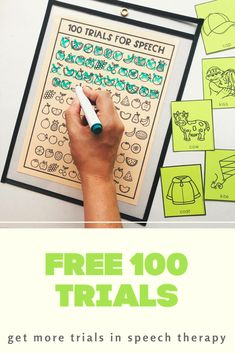 Are you looking to get more practice trials in your speech therapy session? If you are working on articulation or phonology goals, these motivating 100 articulation trial sheets are a fun and motivating way to increase practice in the speech therapy room. Great to send for speech homework! Articulation Therapy, Speech Therapy Activities, Speech Delay, Speech Pathology, Dry Erase Markers, Motivate Yourself, Trials, Homework, Student