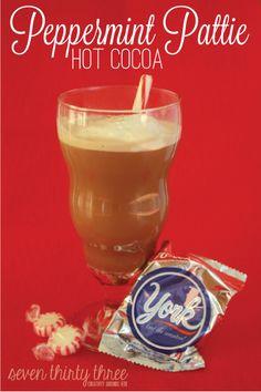 International Delight York Peppermint Pattie Hot Cocoa #IDBAKING