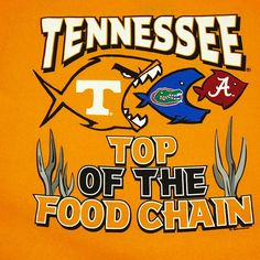 Funny Tennessee Vols | Tennessee Volunteers Food Chain T-Shirt