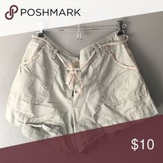 J. Crew City Fit Soft Cotton Shorts Perfect summer casual shorts to throw on over a bathing suit or to run errands. Great condition- too small for me this year! I would consider these very small and short for their size. J. Crew Shorts