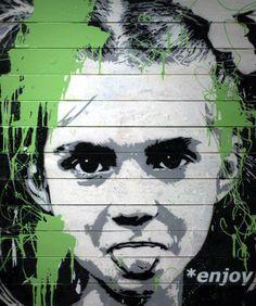 """Artist Van Ray """"Enjoy Life"""" #streetart jd"""