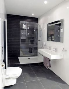 Gray Bathroom Ideas Worthy of Your Experiments Gray Bathroom Ideas – Gray Bathroom Photos. Excellent design ideas and also bath design motivation for health club shower rooms, master baths, kids shower rooms as well as even more. Bathroom Toilets, Bathroom Renos, Grey Bathrooms, Bathroom Flooring, Modern Bathroom, Master Bathroom, Master Baths, Bathroom Pink, Natural Bathroom