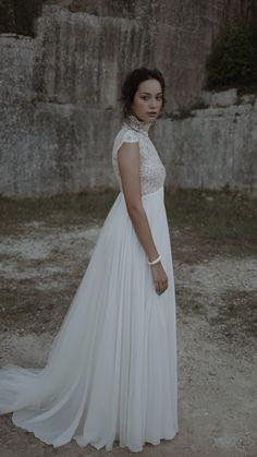 Wedding Bells, Wedding Bride, Wedding Gowns, Dream Wedding, Bridal Outfits, Bridal Dresses, Empire Line Wedding Dress, Regency Dress, Bohemian Wedding Dresses