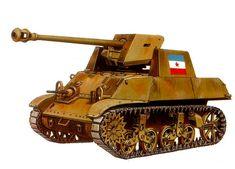 M3A3 Stuart yugoslavo modificato con un 7,5cm Pak 40, appartenente al 2. Btgl, 1ª Brigata Corazzata, area di Llirskiej Bistrica, primavera 1945.