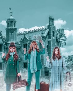 Disney Group Costumes, Group Halloween Costumes, Halloween Ideas, Haunted Mansion Costume, Hitchhiking Ghosts, Disney Dresses, Green Pants, Holidays And Events, Costume Ideas