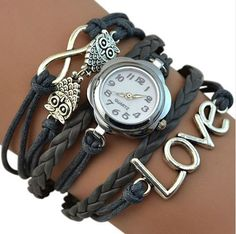 Love, Infinity, Owl Bracelet Watch