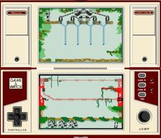 Nintendo's second dual-screen Donkey Kong Game & Watch hand-held. This simple LCD game kept me busy on a daily basis during a six-week vacation as a kid.