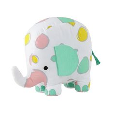 Colorful Shapes Stuffed Elephant | The Land of Nod