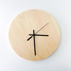 wood modern simple clock  #office #design #clock