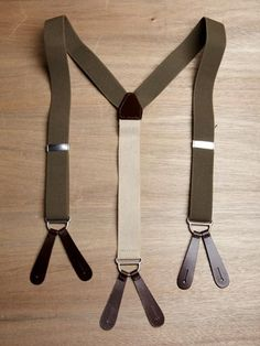 Nigel Cabourn men's Solid Braces from A/W 11 collection in army green.