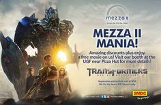 MEZZA II MANIA TODAY!   You don't wanna miss this once-in-a-lifetime opportunity. For more details, come & visit SMDC booth here at SM City Sta. Mesa, UGF (beside Pizza Hut).  #transformers #smcitystamesa