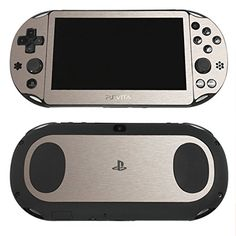 Silver Brushed Metal PlayStation Vita PCH2000 Skin  Sticker Decal Wrap Set  High Quality  Textured  Durable  Protection  by SKINTZ *** Click image for more details.Note:It is affiliate link to Amazon.