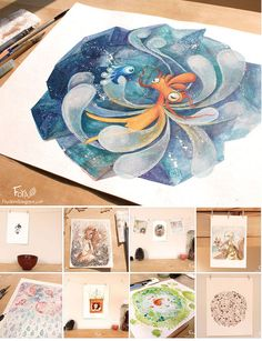 2013 Watercolor illustrations on Behance